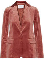 Frame Classic Cotton-blend Velvet Blazer - Orange