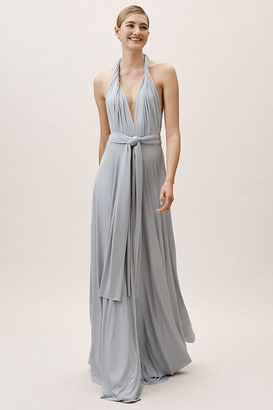 Anthropologie Ginger Convertible Maxi Dress By in Grey Size S