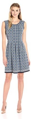 Lark & Ro Amazon Brand Women's Sleeveless Jersey Pleated Dress