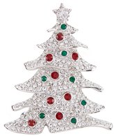 Nadri Jolly Cubic Zirconia Christmas Tree Pin