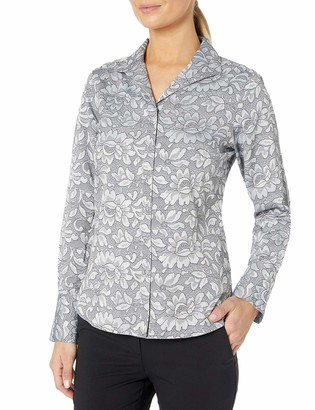 Foxcroft Women's Lace Jacquard Shirt