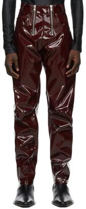 GmbH Burgundy Vinyl Frey Trousers