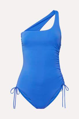 Melissa Odabash Polynesia One-shoulder Swimsuit - Cobalt blue