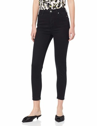 Miss Selfridge Women's Lizzie Black Short Skinny Jeans EU 38 UK 10 Manufacture Size:W28/L30