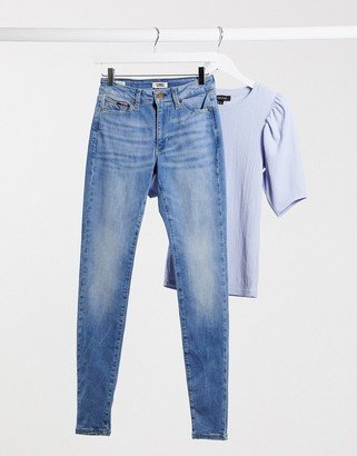 Tommy Jeans Sylvia high rise skinny jeans in mid blue