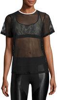 Koral Activewear Size Up Open-Mesh Tee, Black