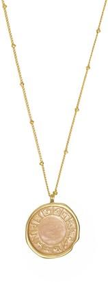 Wanderlust + Co Zodiac Enamel Gold Necklace
