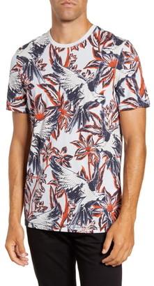 Ted Baker Slim Fit Parrot Print T-Shirt