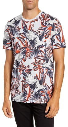Ted Baker Slim Fit Parrot Print T-Shirt