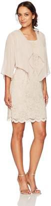 Jessica Howard Jessicahoward JessicaHoward Women's Petite Wing Collar Jacket Dress