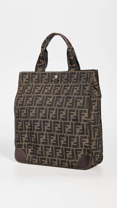 Fendi Brown Zucca Tote Small Bag