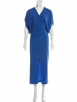 Zero Maria Cornejo Aki Wrap Silk Dress w/ Tags blue