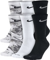Nike Mens 6-pk. Dri-FIT Mix Camo Crew Socks