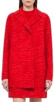 Akris Women's Tiger Print Double Face Wool Blend Coat
