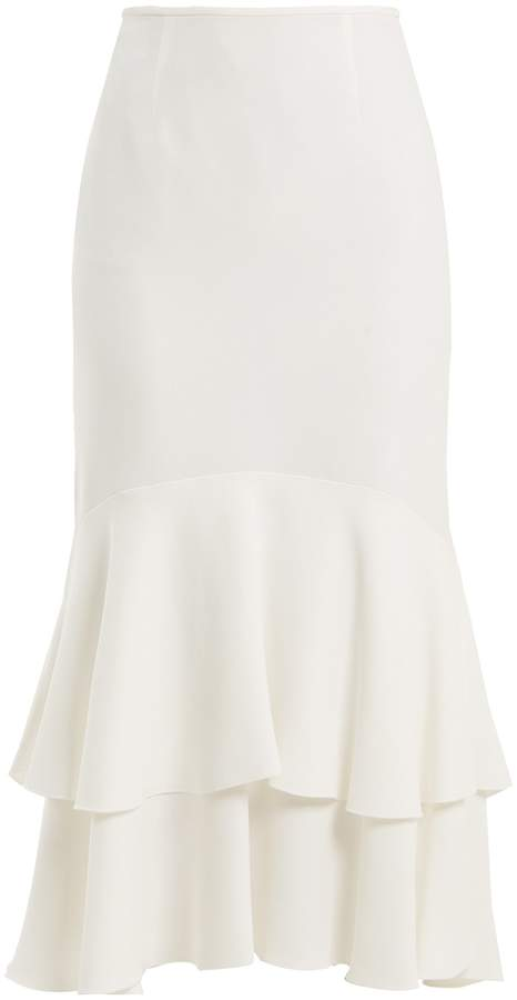 Giambattista Valli Tiered cady midi skirt