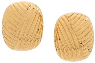 Christian Dior Pre-Owned Ribbed Earrings