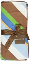 Caden Lane Boutique Collection Plaid Piped Blanket, Blue by