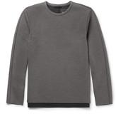Theory Panelled Scuba-Jersey Sweatshirt