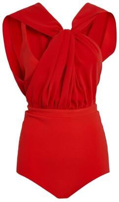 A.W.A.K.E. Mode Sleeveless Knot-Front Bodysuit