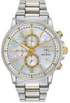 Citizen Women's Nighthawk Eco-Drive Stainless Chronograph Dive Watch