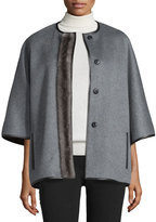 J. Mendel Cashmere Jacket w/Mink Fur Placket