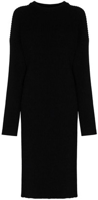 Bottega Veneta Black Ribbed Dress