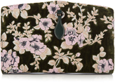 Rochas Floral-embroidered velvet clutch