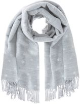 Mint Velvet Grey Ivory Star Blanket Scarf