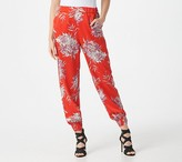 G.I.L.I. Got It Love It G.I.L.I. Petite Pull-On Printed Woven Smocked Joggers