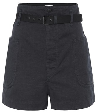 Etoile Isabel Marant Isabel Marant, étoile Rike high-rise cotton-blend shorts