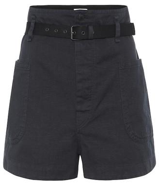 Etoile Isabel Marant Rike high-rise cotton-blend shorts