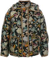 Etro Mandala puffer jacket - women - Cotton/Lamb Skin/Acrylic/Goose Down - 42