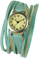 Tokyobay Tokyo Bay T432-TQ Women's Gaucho Stainless Steel Turquoise Leather Band Dial Watch