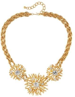 Susan Caplan Vintage 1990s Vintage Kenneth Jay Lane Swarovski Crystal Necklace