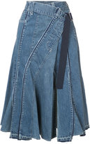 Sacai mermaid denim skirt - women - Cotton - 1