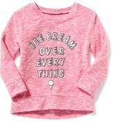 "Old Navy ""Ice Cream Over Every Thing"" Sweater-Knit Sweatshirt for Toddler"