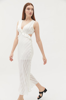 Rahi Angelic Ruffle Cutout Slip Dress