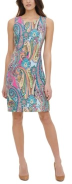 Tommy Hilfiger Sleeveless Paisley Trapeze Dress