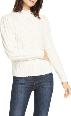 La Vie Rebecca Taylor Cable Turtleneck Pullover