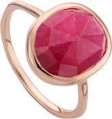 Monica Vinader Siren 18ct rose gold vermeil and pink quartz stacking ring