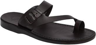 Jerusalem Sandals Men's Leather Slide Sandals -Abner
