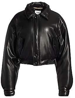 Nanushka Women's Bomi Vegan Leather Oversized Bomber Jacket