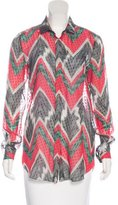 Missoni Abstract Print Silk Blouse w/ Tags