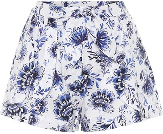 Alexandra Miro Exclusive to Mytheresa Floral cotton shorts