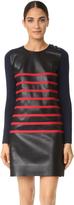 Cédric Charlier Stripe Leather Dress