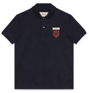 Gucci Cotton polo with Web crest