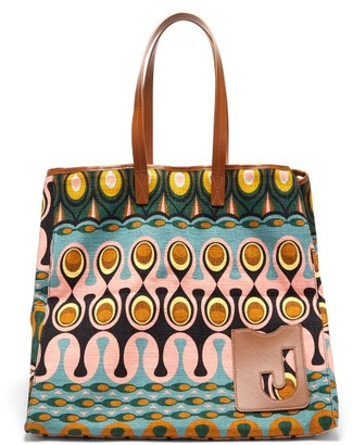 La DoubleJ Big Mama Rio-print Cotton Tote Bag - Multi