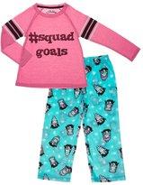 PJ Salvage Youth Girl's Squad Goals PJ Set - Aqua