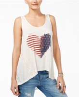 American Rag High-Low Graphic Tank Top, Only at Macy's