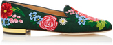 Charlotte Olympia M'O Exclusive Rose Garden Canvas Slippers
